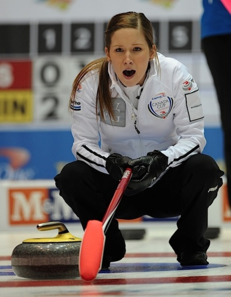 Moose Jaw Sk,Nov29_2012.Capital One Canada Cup Curling.Skip Kaitlyn Lawes.CCA/michael burns photo