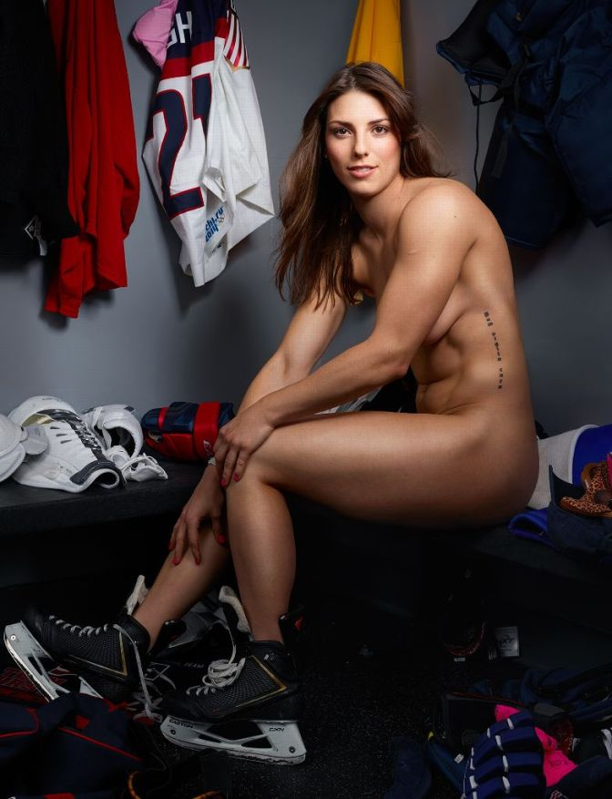 Hilary Knight, USA hockey player, takes it all off!