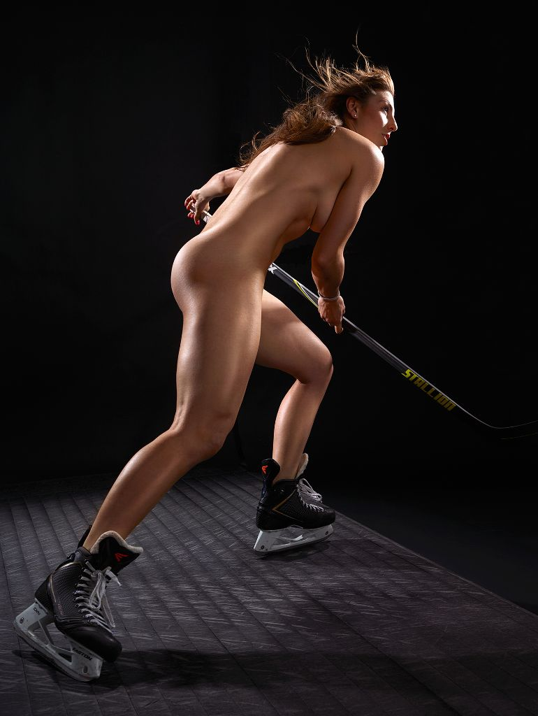 sexy female ice hockey player